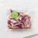 Organic chicken gizzards in Springfield Poultry vacuum packed packaging
