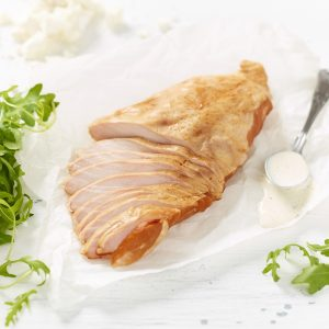 Free Range Smoked Chicken Breast Fillet with rocket leaves, soured cream and feta cheese