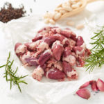 Free Range Chicken Hearts with garlic, rosemary, peppercorns and cannellini beans