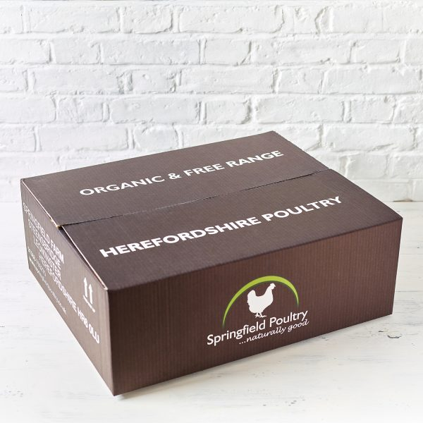 Springfield Poultry Organic & Free Range Herefordshire Poultry Delivery Boxes