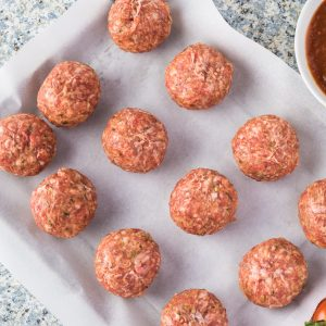 Sun-dried tomato meatballs